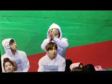 170116 Jimin playing with Taehyungs hair @ ISAC 2017