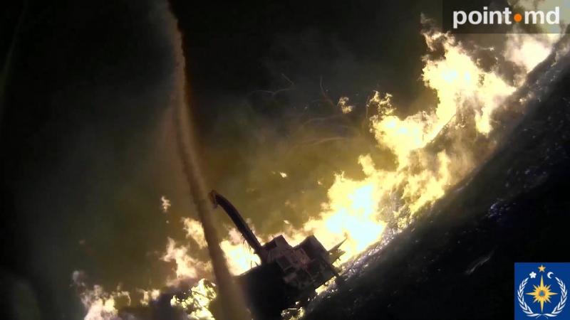 Пожарные показали тушение пламени на республиканском стадионе глазами спасателя
