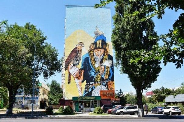 MURAL FEST в Алматы. Кто и зачем рисует на фасадах домов в АлматыВ р