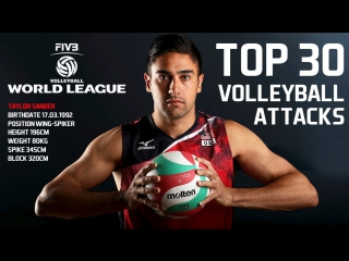 TOP 30 BEST Volleyball Attacks by Taylor Sander - FIVB Volleyball World League 2017