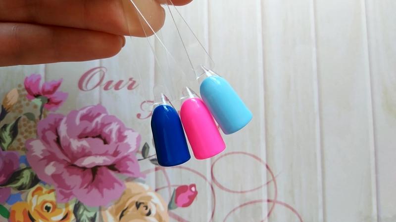 Новые оттенки - синий-индиго, Цветы сакуры и небесно-голубой.