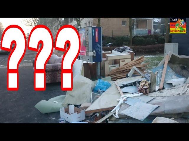 Почему улицы в Германии захламлены мусором. Sperrmüll. 17.01.17