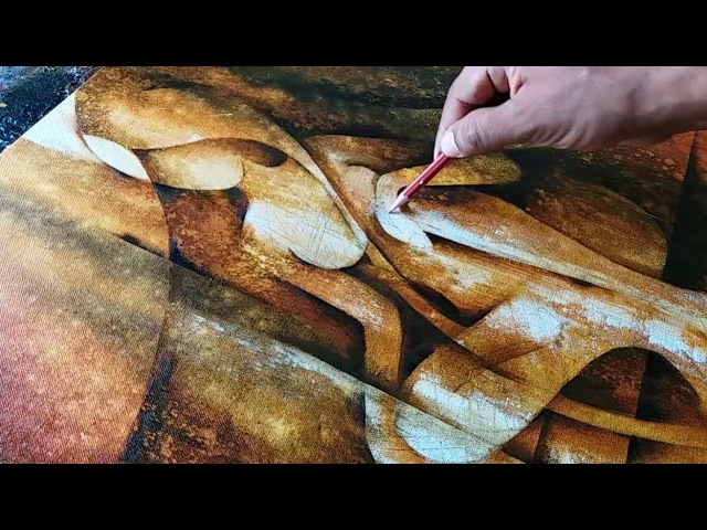 Abstract Painting Abstract Figurative Painting in Acrylics Demonstration
