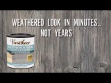 Get a Weathered Wood Look in Minutes with Varathane Weathered Wood Accelerator