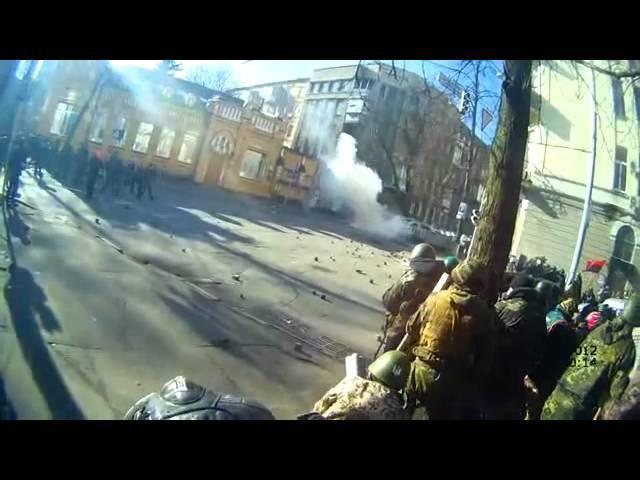 18 лютого 2014 р бій на розі Кріпосного провулку та Інститутської