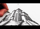 How to Draw 3 Point Perspective for Beginners Narrated