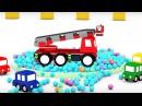 4 МАШИНКИ и пожарная машина. Мультики для детей про машинки. Развивающие мультфи...