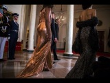 Social Media Goes Nuts Over Michelle Obama's Stunner Of A Final State Dinner Dress