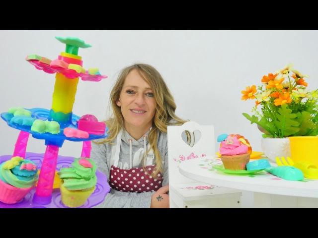 Videos Play Doh: wir kneten Cupcakes und Kekse mit Nicole! 🍪 Video für Kinder 👶 Knete Playdoh