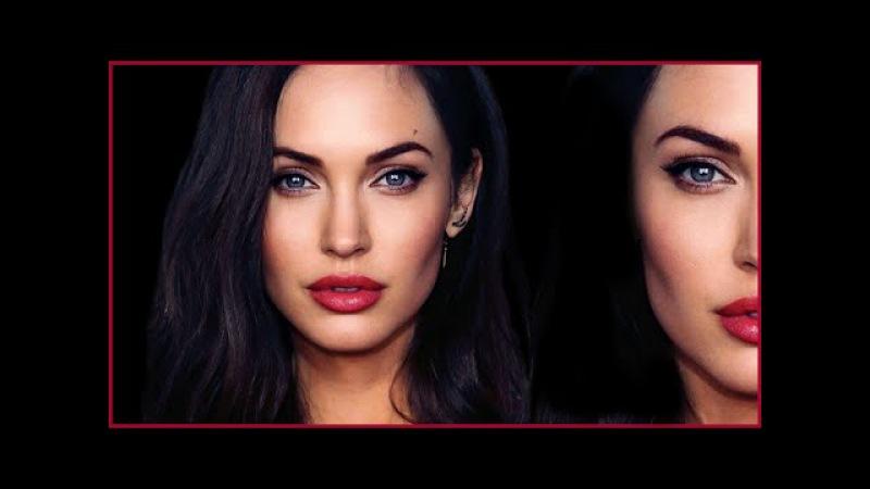 Angelina Jolie Megan Fox HYBRID TRANSFORMATION Makeup Tutorial | MissJessicaHarlow