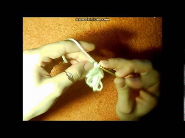 Объемный легкий цветок крючком Crochet flower.Вяжем цветок крючком.