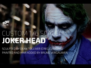 Custom 1/6 scale Heath Ledger Joker sculpt (CREG Customs/Bruno Vergauwen)
