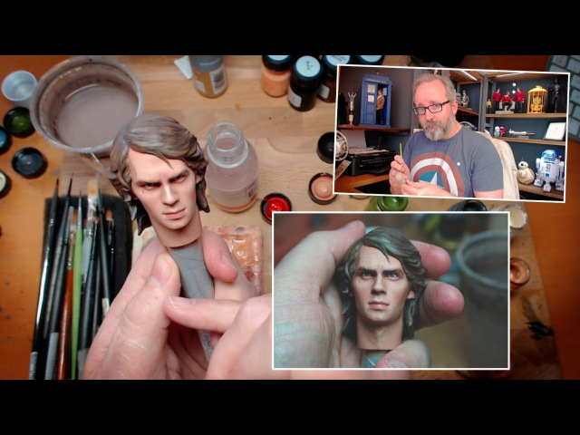 Star Wars 1/6 scale Anakin Skywalker action figure repaint custom - Sideshow (not Hot Toys)