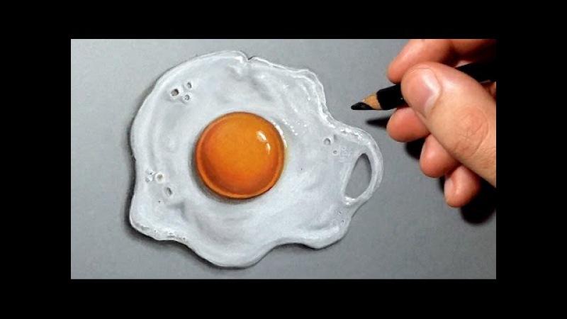Comment dessiner un œuf au plat réaliste [Tutoriel]