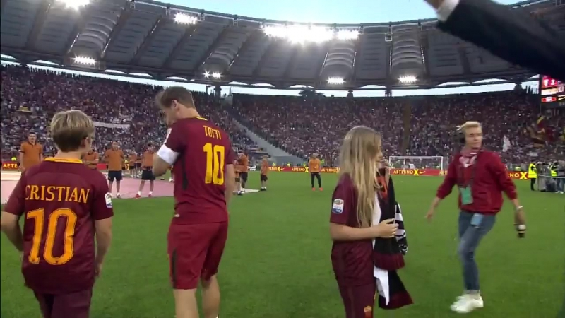 Francesco Totti final farewell to the fans
