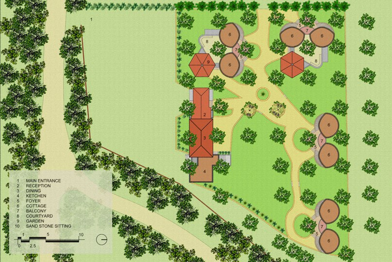 d6thd design studio realizes the shyam farm forest resort in india (Part 2)