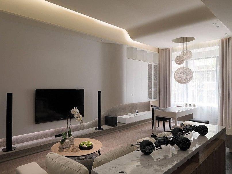 Современные многоуровневые апартаменты  Проектное бюро WCH Studio из Тайваня работало над оформлением многоуровневых апартаментов.