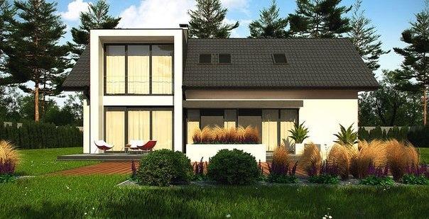 Проект жилого дома на две семьи