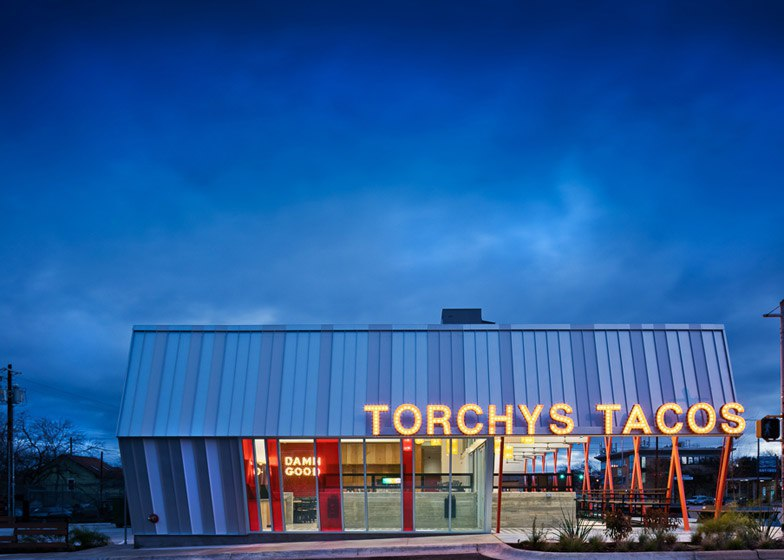 Torchy's Tacos by Chioco Design references 1950s roadside architecture