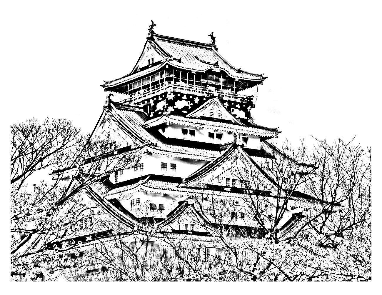Раскраски-антистресс: Япония. Обсуждение на LiveInternet ...