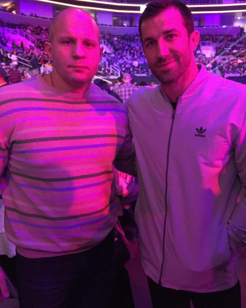 Люк Рокхолд с Федором  Емельяненко на Bellator 165