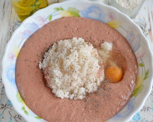 Экономные котлеты из печени и риса и