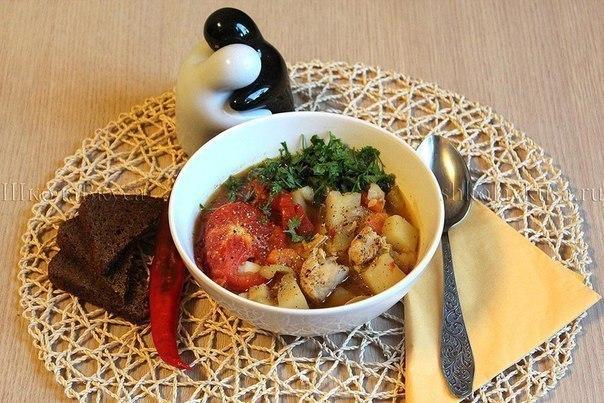 Овощное рагу с курицей Ингредиенты: Куриное филе или куриная