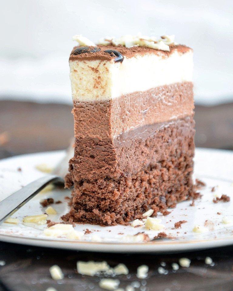 Торт «Три шоколада» Ингредиенты на торт диаметром 24