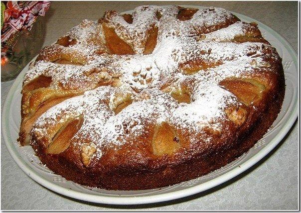 Вкуснейший грушевый пирог к вечернему чаю Ингредиенты: -1-2 яйца -1/2
