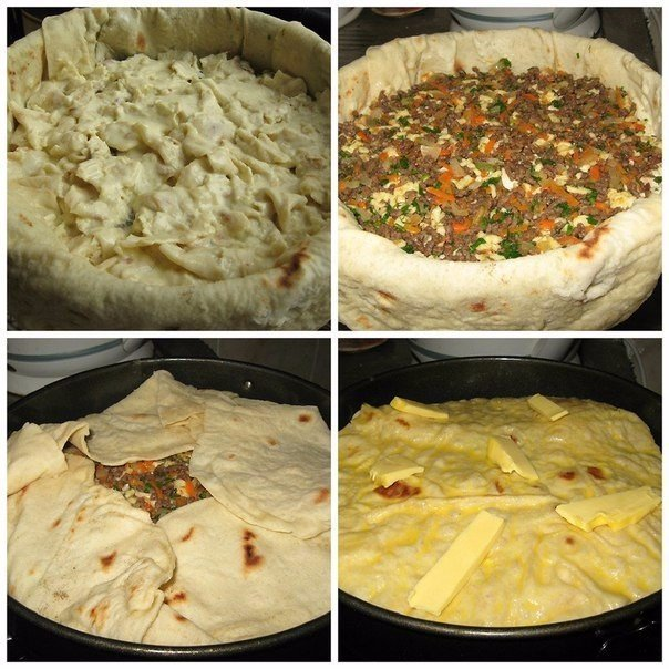 Мясной пирог из лаваша Пирог получается сочный и