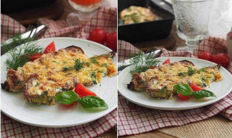 Запеченные кабачки со сметаной и сыром Ингредиенты: на 4