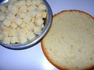 Фруктово-бисквитный торт Ингредиенты: Для бисквита: -4 яйца -1 ст. сахара -1 ст.