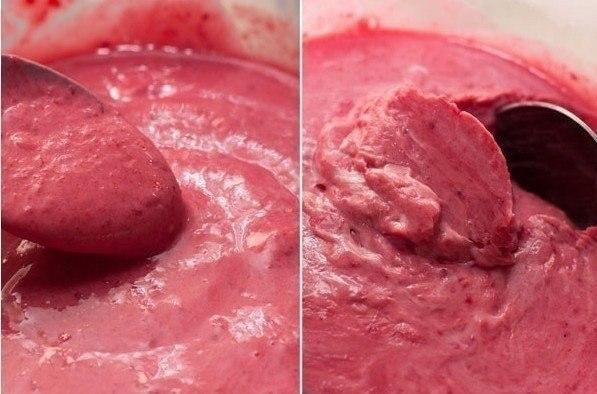Сливочное малиновое мороженое Вкусное домашнее мороженое без яиц.