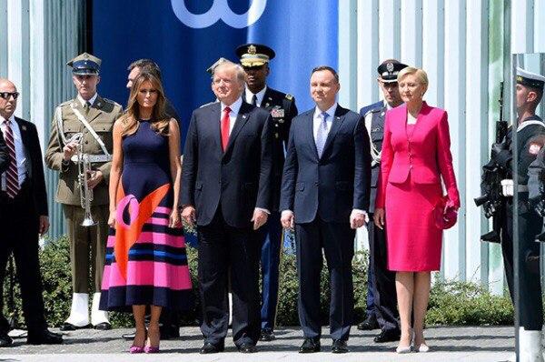 Дональд и Мелания Трамп завершили визит в Польшу и прилетели в Германию на саммит G20