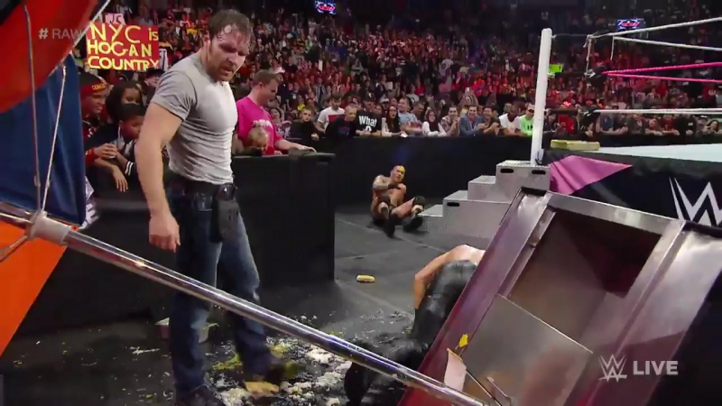 Dean Ambrose Breaks Out the Hot Dog Condiments