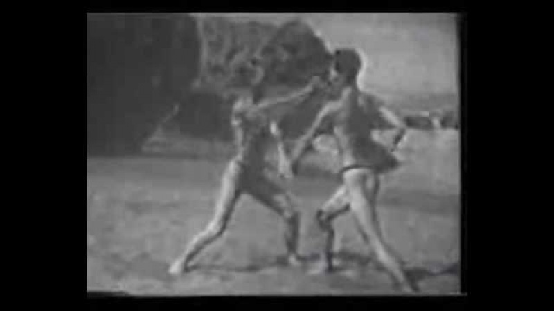 Vintage footage of sanbon kumite (sparring)