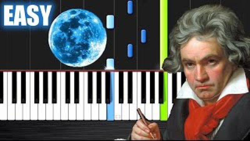 Beethoven - Moonlight Sonata - EASY Piano Tutorial by PlutaX