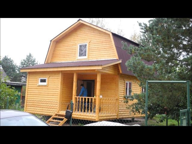 Дом 6,0х6,0м с мансардой и крыльцом. Цена в Санкт Петербурге 547.100 рублей
