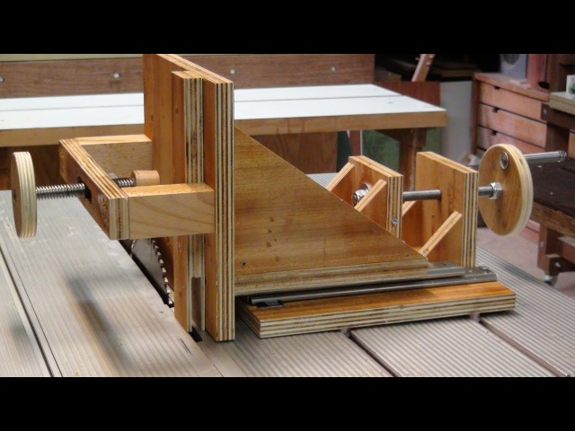 Tenon Jig Shopmade - How It Works on Table Saw