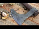 Modifying the Cold Steel Viking Ax Walnut Patina and Birch Oil Finish