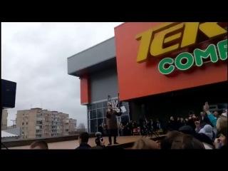 Караоке на майдане / Кондратюк / Кривой Рог / ТК Терра 22.11.2015