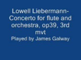 Lowell Liebermann-Concerto for flute and orchestra, op39, 3rd mvt