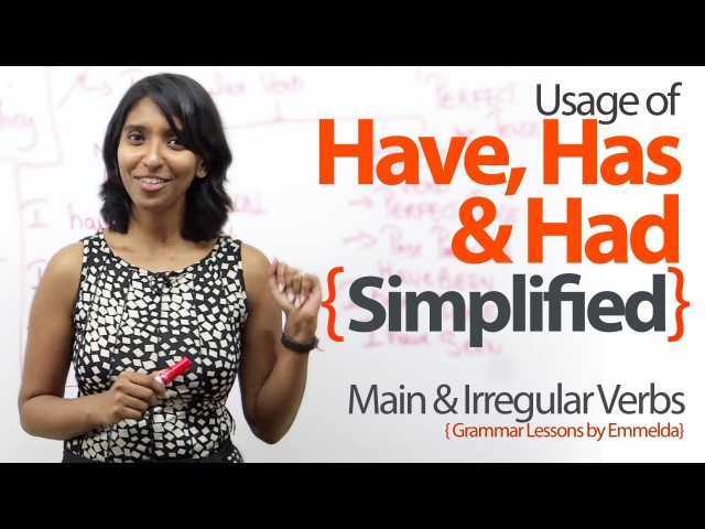 Using Have, Has Had simplified – Basic English Grammar Lessons to learn Verbs Tenses.