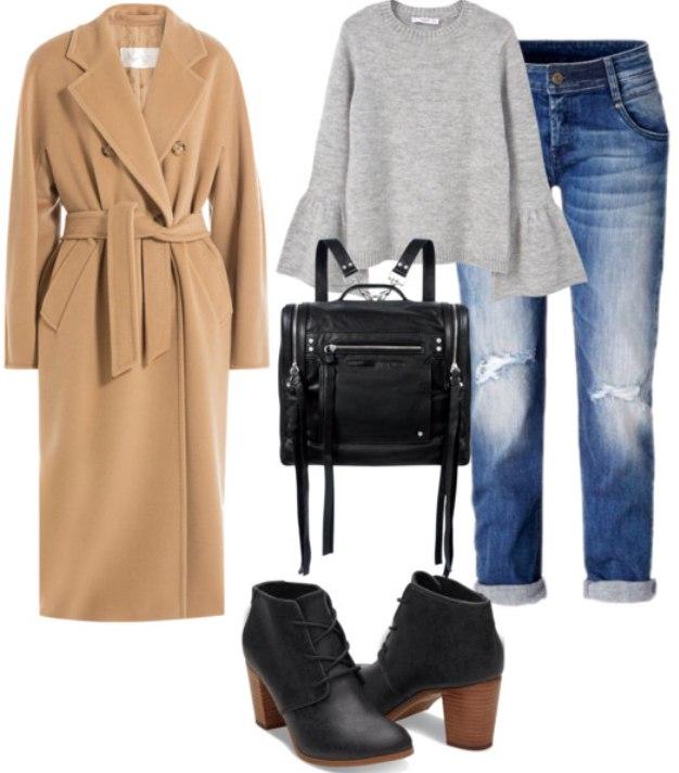 +с +чем носить пальто верблюжьего цвета