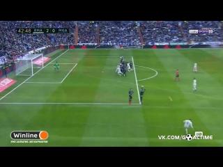 Реал Мадрид - Малага 2:0. Серхио Рамос второй гол.