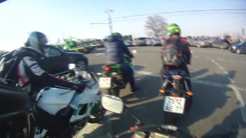Прохват на четырех хондах. Honda CBR 600 f4i Honda CBR 600 RR Honda VTR 1000 Honda CBR 900 RR