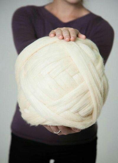 Пряжа для вязания огромными спицами