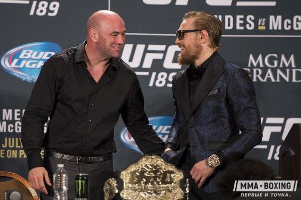 💥 Дана Уайт отреагировал на боксерскую лицензию МакГрегора: «Забавно обсуждать бой Конора и Мэйвезера»