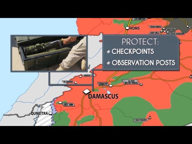 4 августа 2017. Военная обстановка в Сирии. Рядом с Дамаском замечены русские солда...