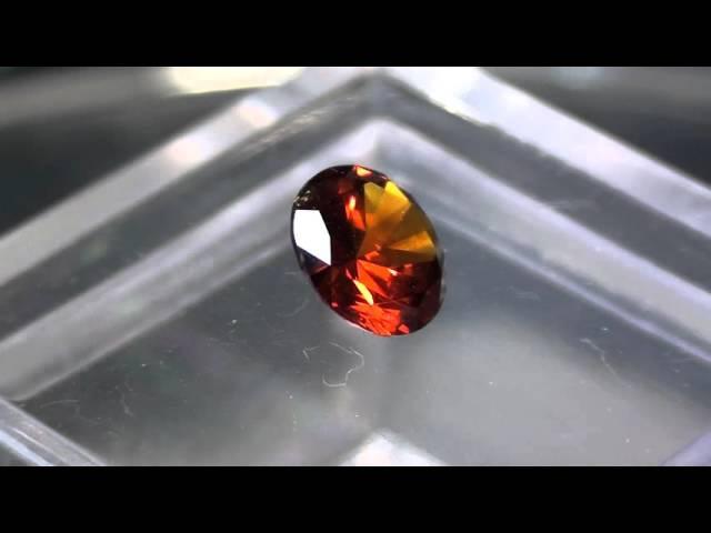 0,75ct red demantoid